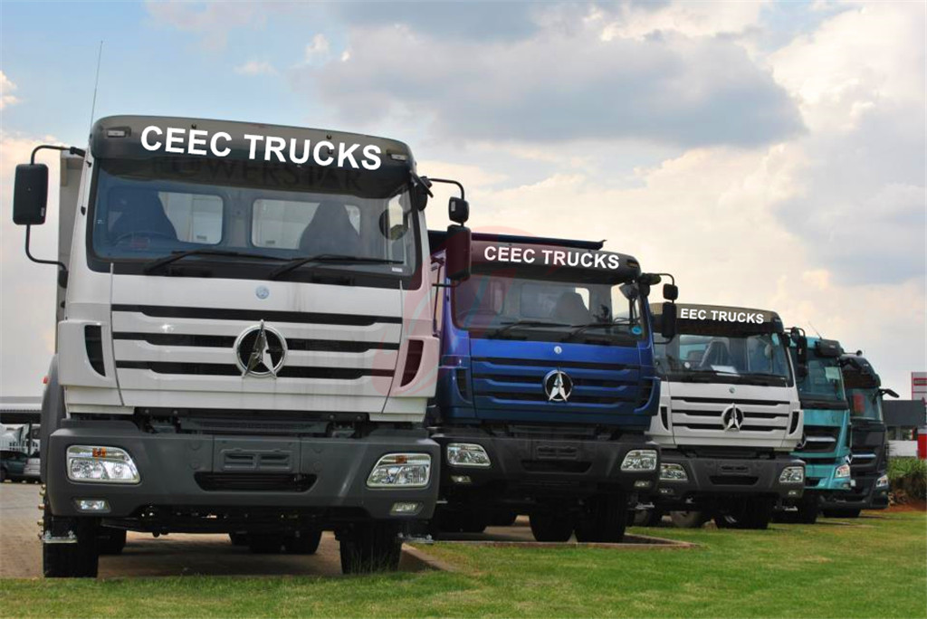 Beiben RHD Trucks in factory stock
