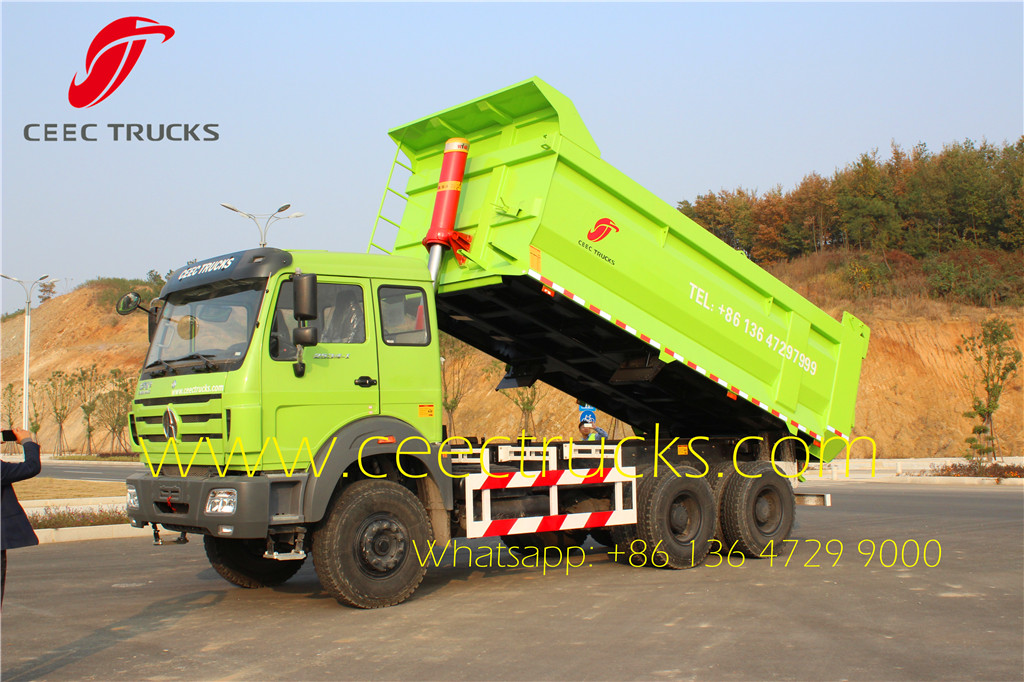 beiben 2538 tipper truck with T type cargo box