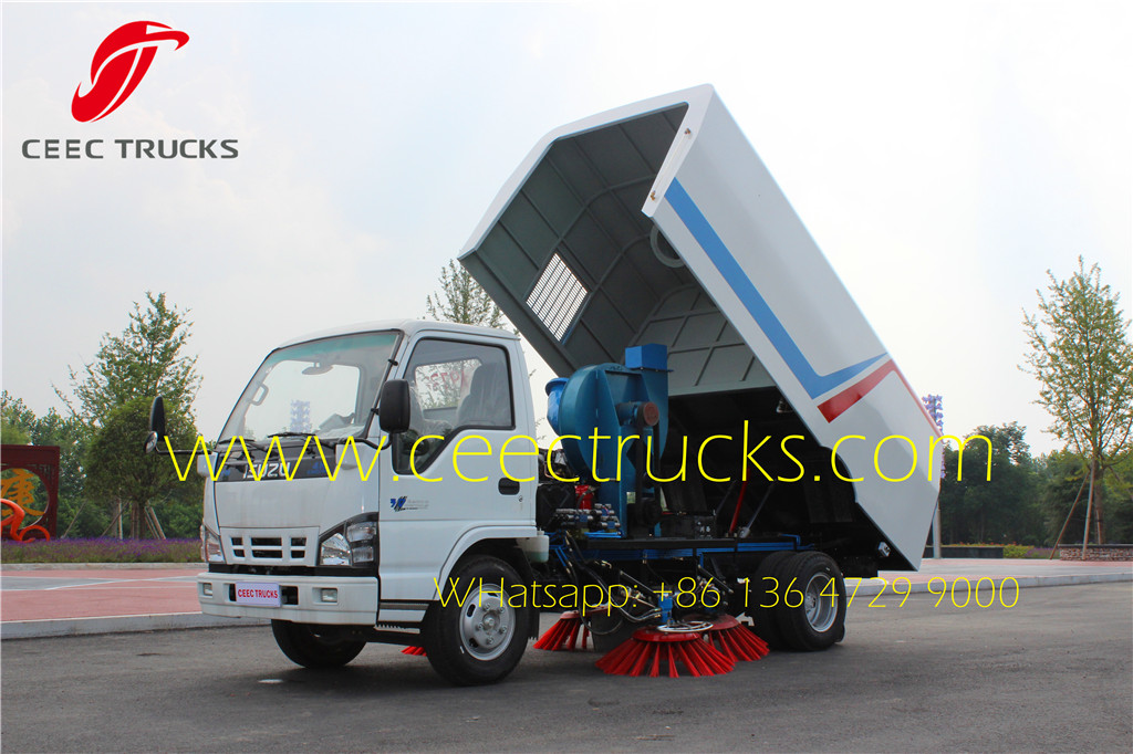 ISUZU 4 CBM road sweeper truck export nigeria