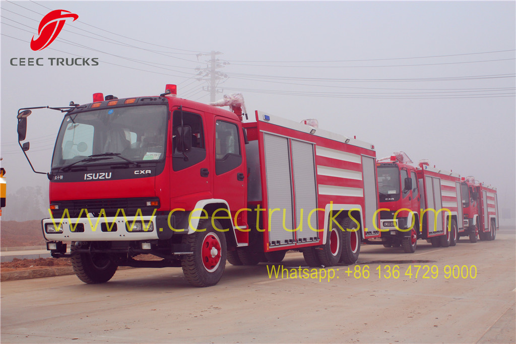 firefighting truck ready for shanghai seaport