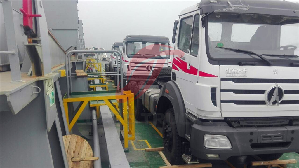 beiben tractor trucks for shipment