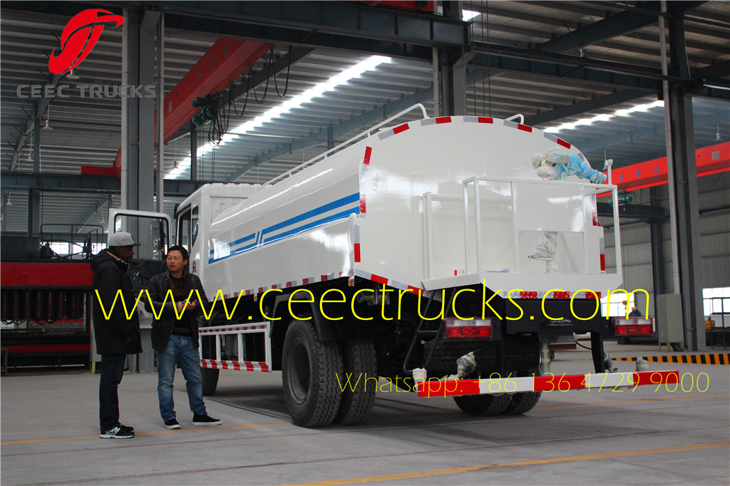 Angola Client visiting our factory for buying water tanker truck