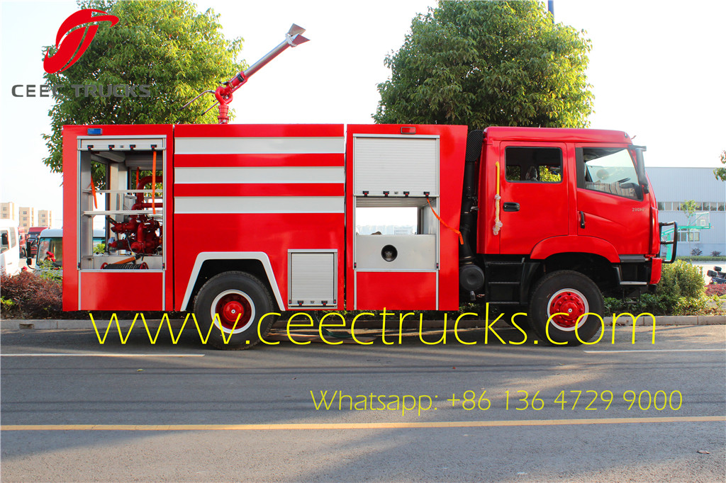 Faw firefighting trucks export Uganda