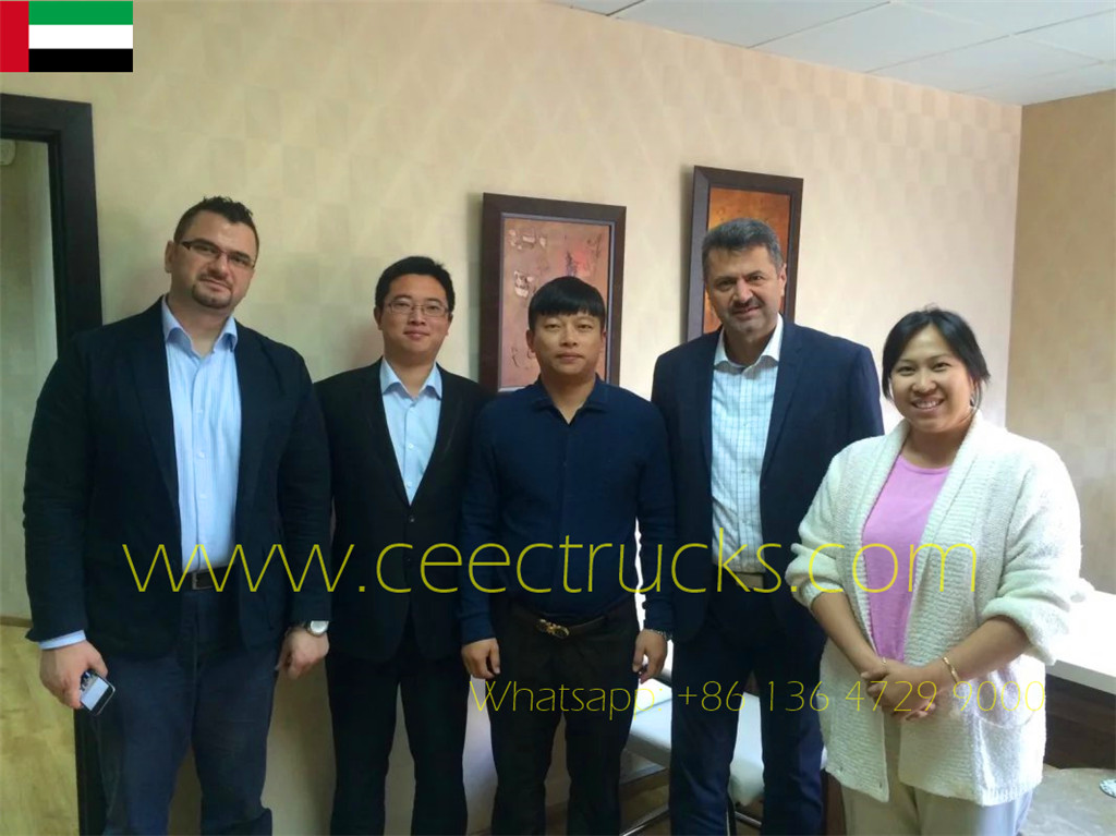 CEEC vice general manager visiting Dubai customer