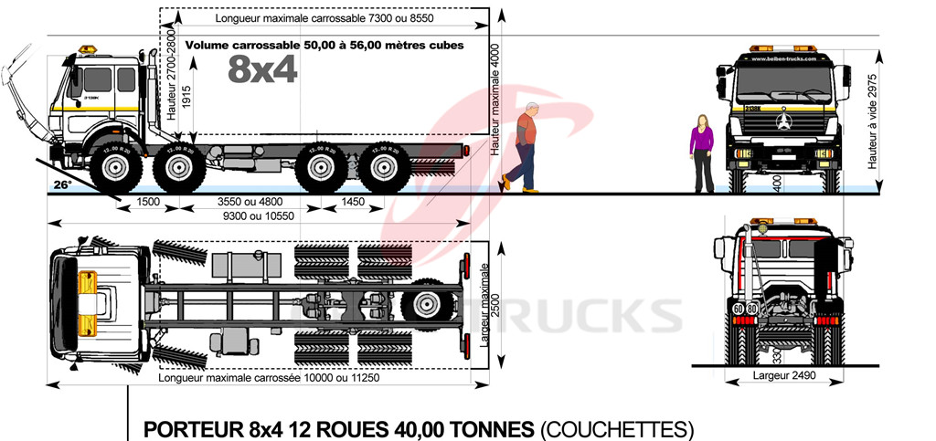beiben 3138 V3 tipper trucks drawing