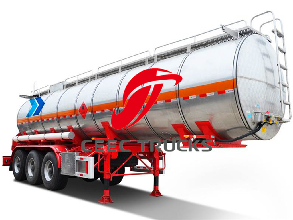 Stainless Steel 36CBM Fuel Tanker trailer for sale