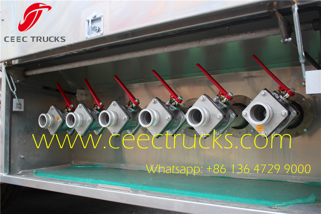 Stainless Steel 36CBM Fuel Tanker trailer specifications