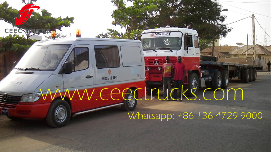 CEEC beiben 10 wheel tractor trucks export to Gambia