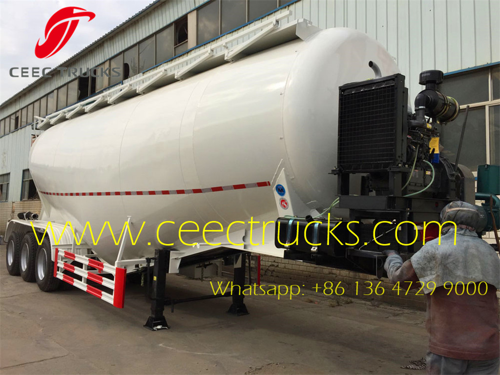 50 CBM heavy cement bulk tanker trailer