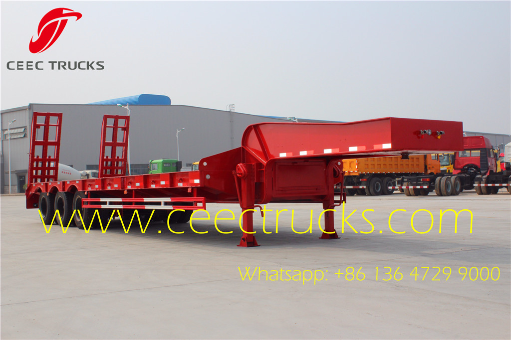 50T low flatbed semi trailers