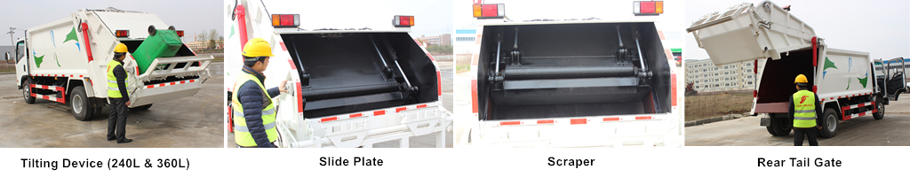 CEEC garbage compactor truck loading system