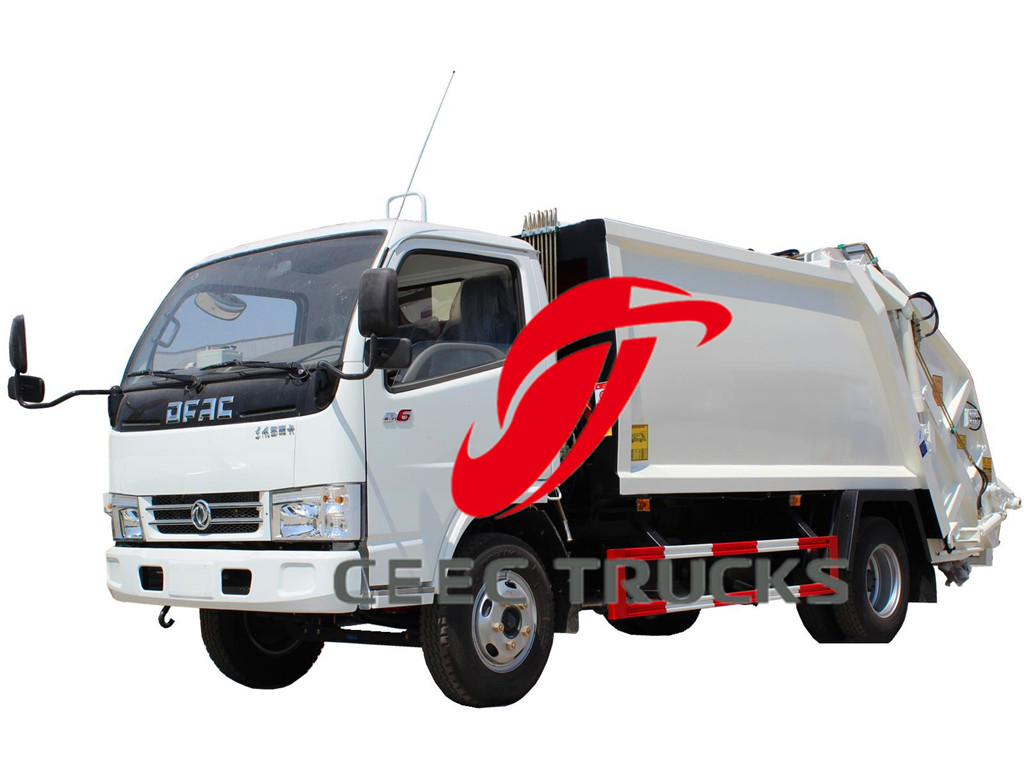 Dongfeng 5000 liters trash compressed garbage trucks drawing