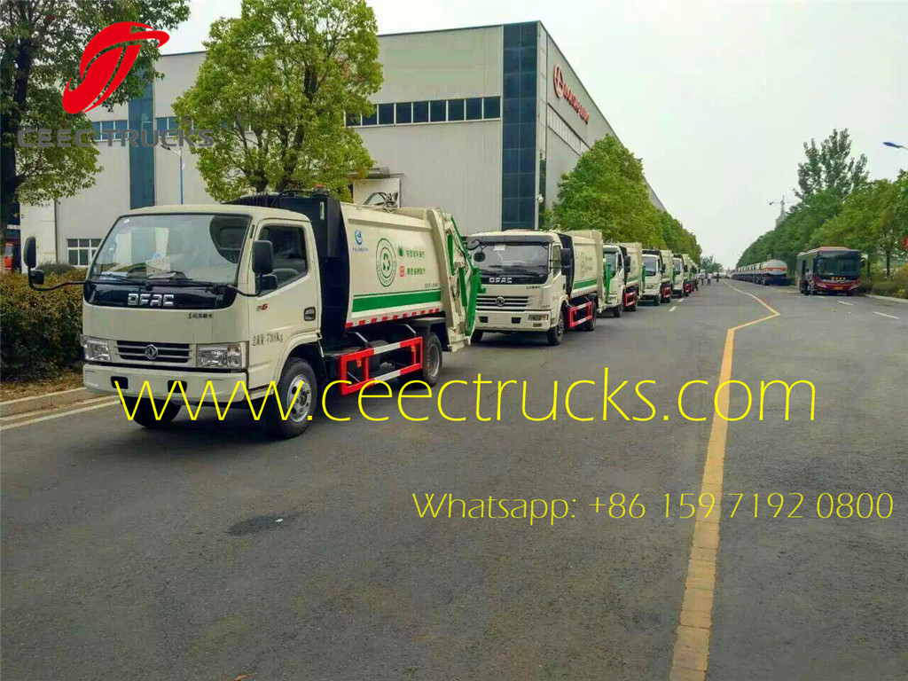 Dongfeng 6CBM garbage compactor truck