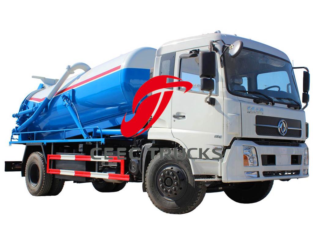 DFAC 9000 liters suction tanker truck