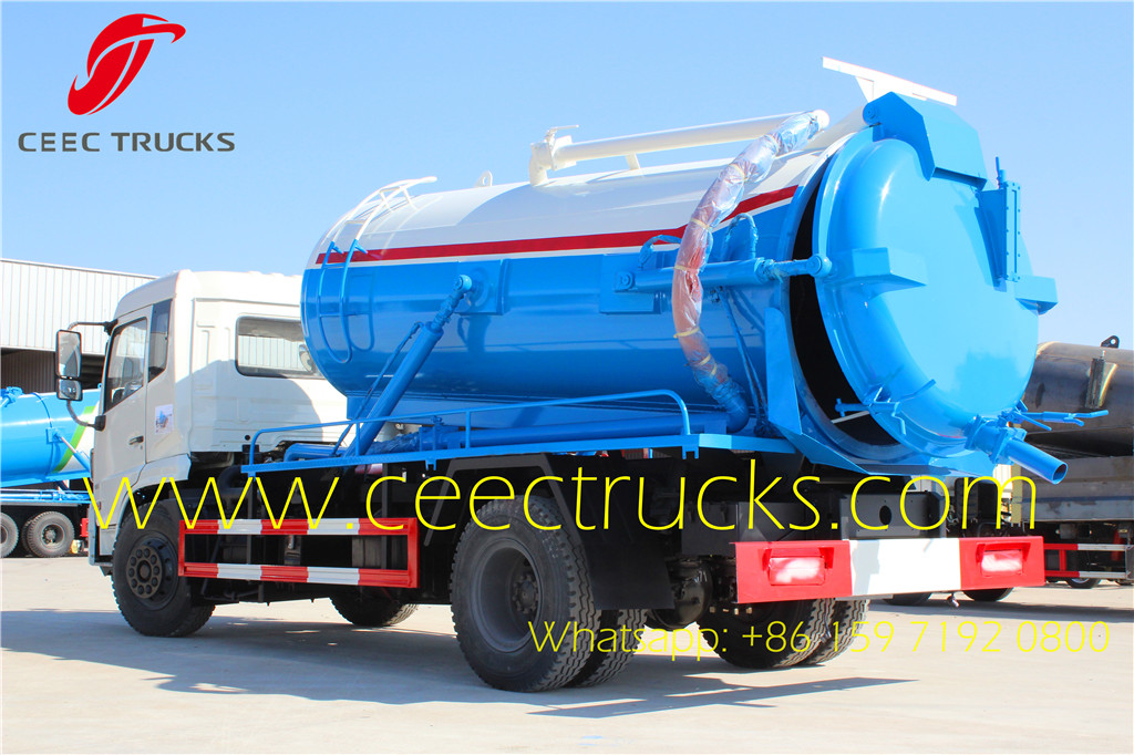 How to choose suitable dongfeng 9000liters cesspool pump truck