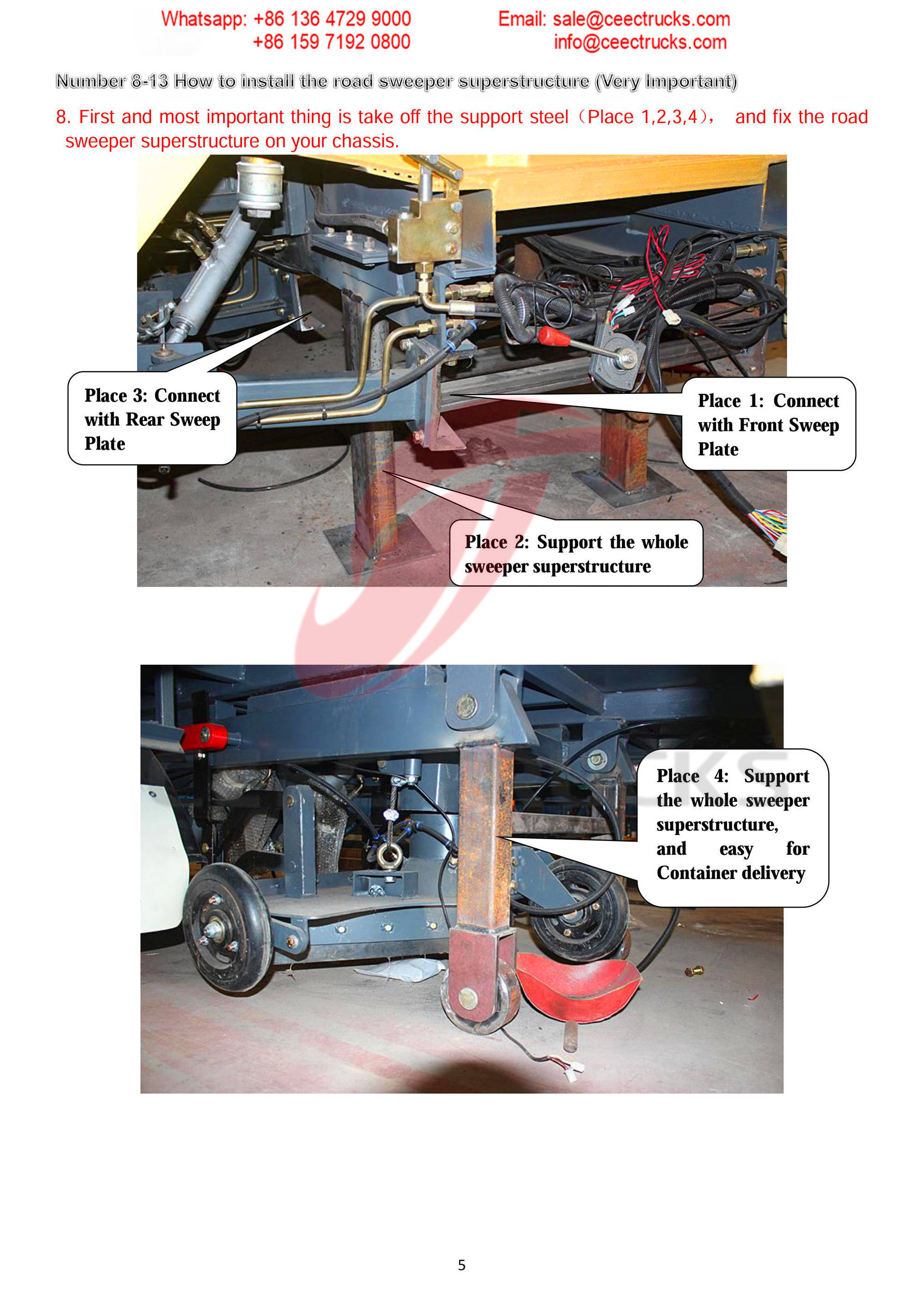 How to install road sweeper superstructure