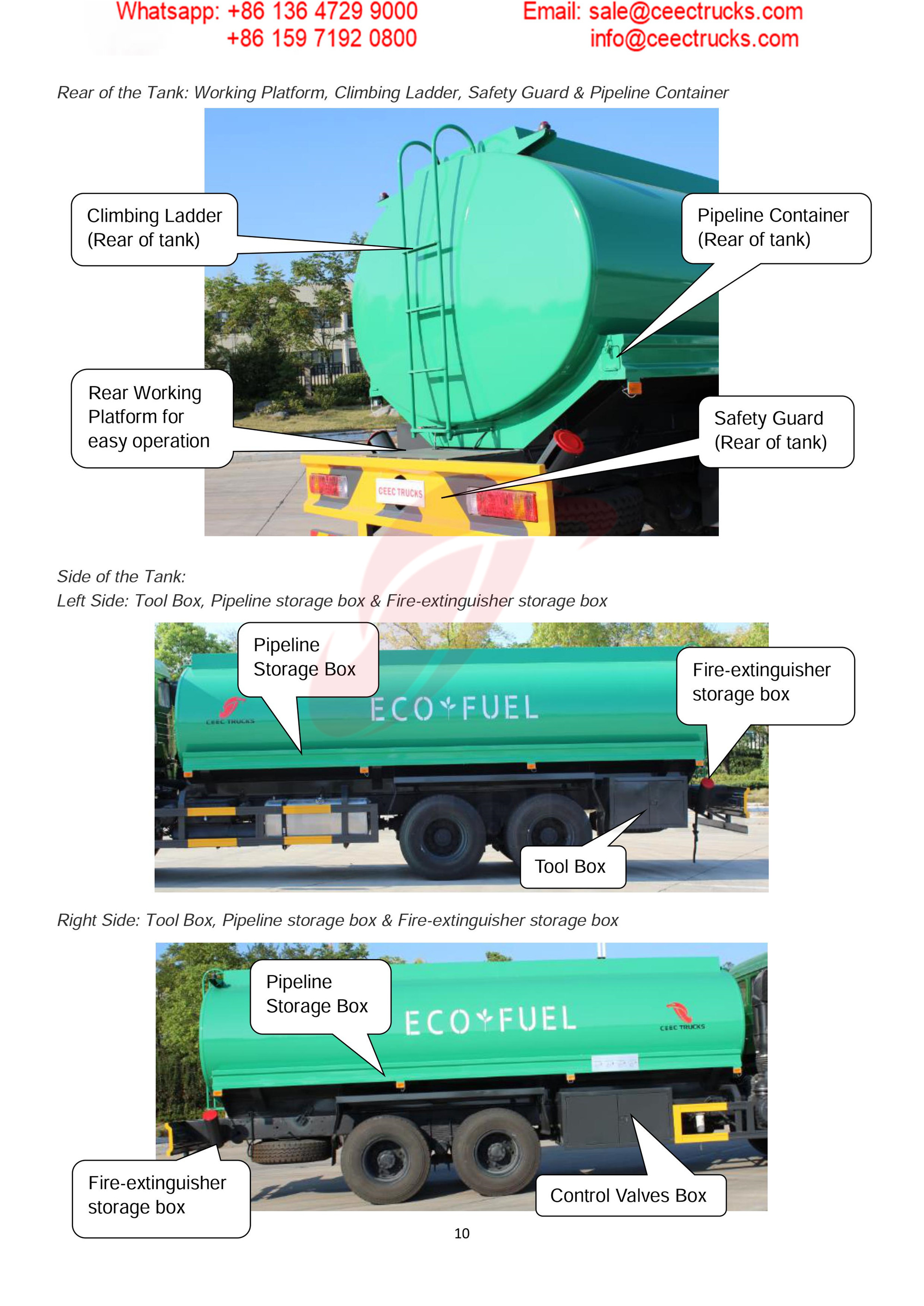 BEIBEN 2530 fuel tanker truck export Carribean Sea