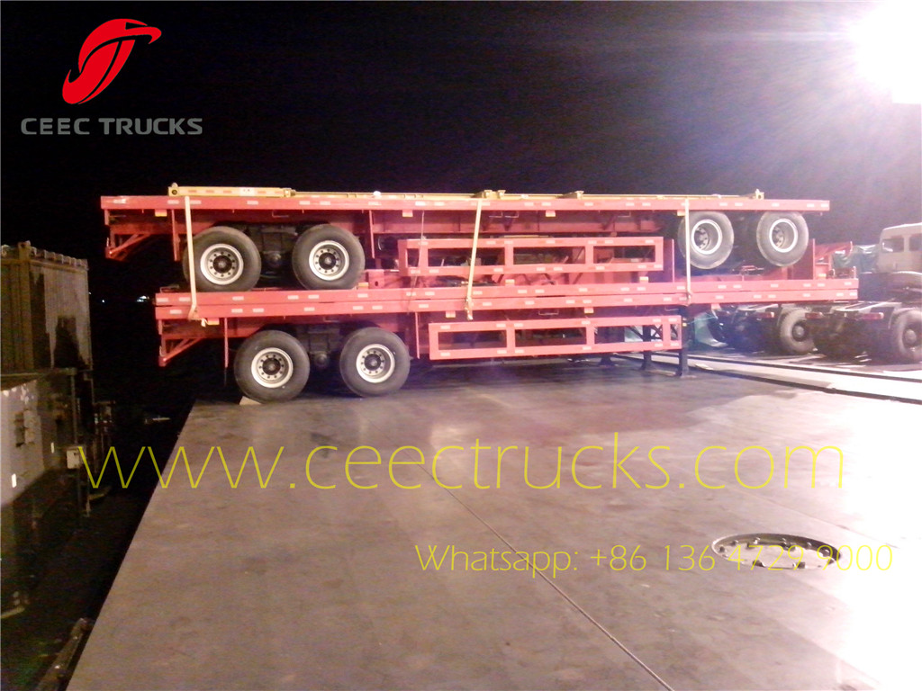 40feet flat bed semitrailer exported Costa Rica