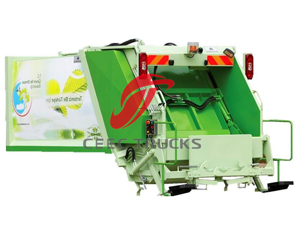 EURO standard garbage compactor truck superstructure