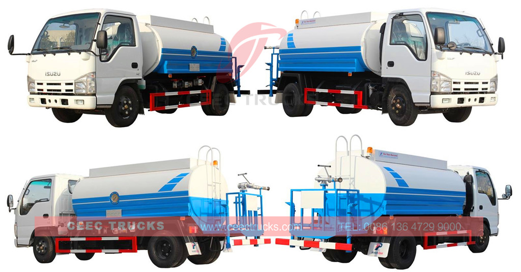 CEEC supply ISUZU 5CBM water tanker truck