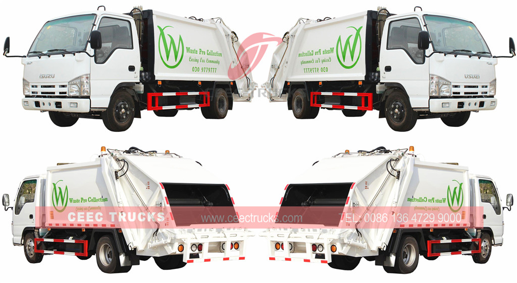 technical drawing for ISUZU garbage compactor truck