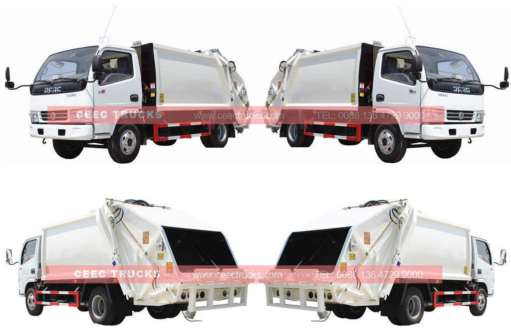 whole view for isuzu 6cbm garbage compactor truck