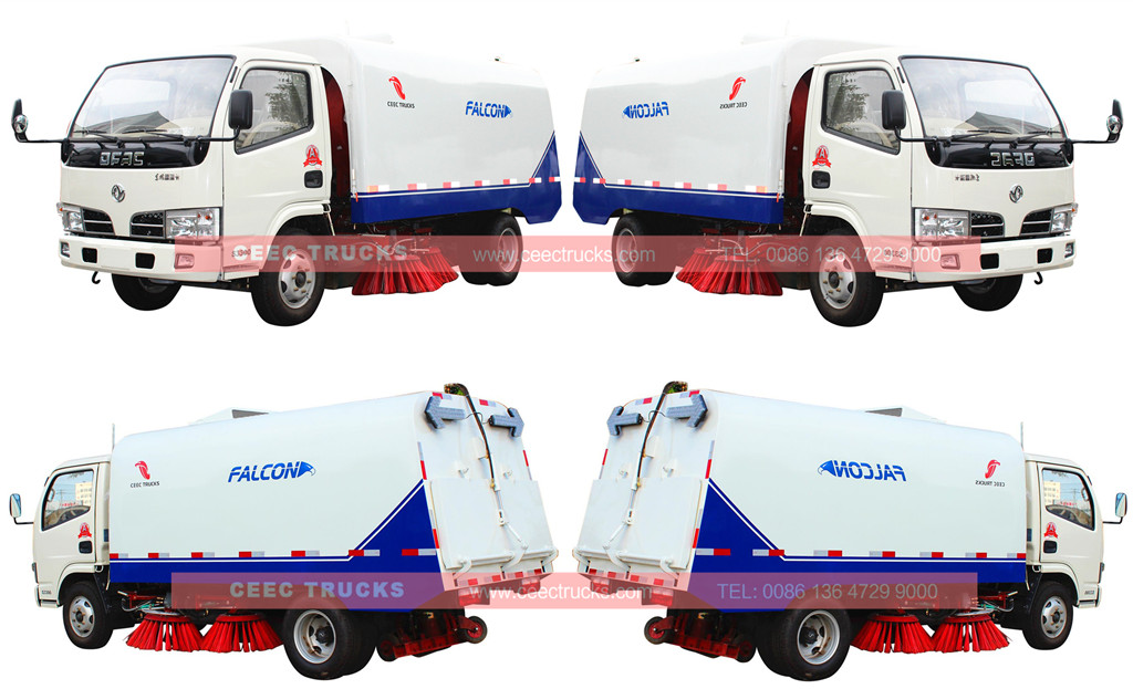 CEEC dongfeng 4cbm road sweeper truck overview