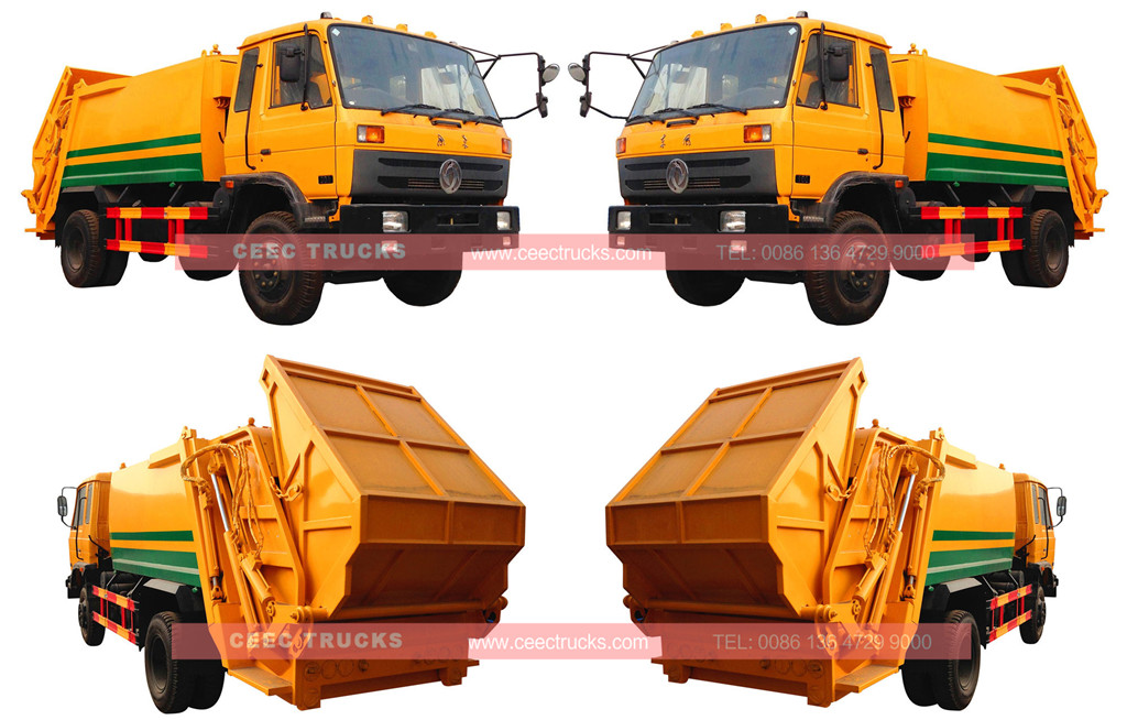 wholeview garbage compactor truck