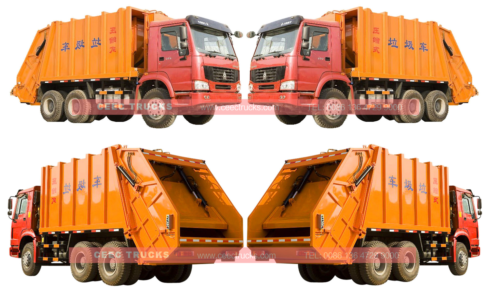 wholeview for SINOTRUK 20cbm compactor truck