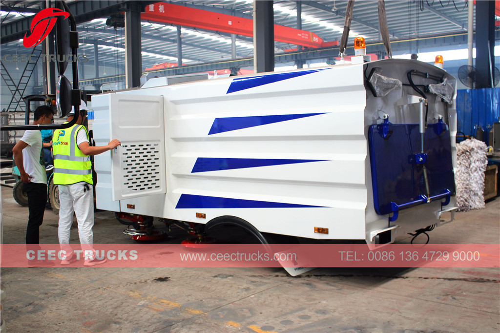 CEEC 5cbm road sweeper superstructure export East Asia country