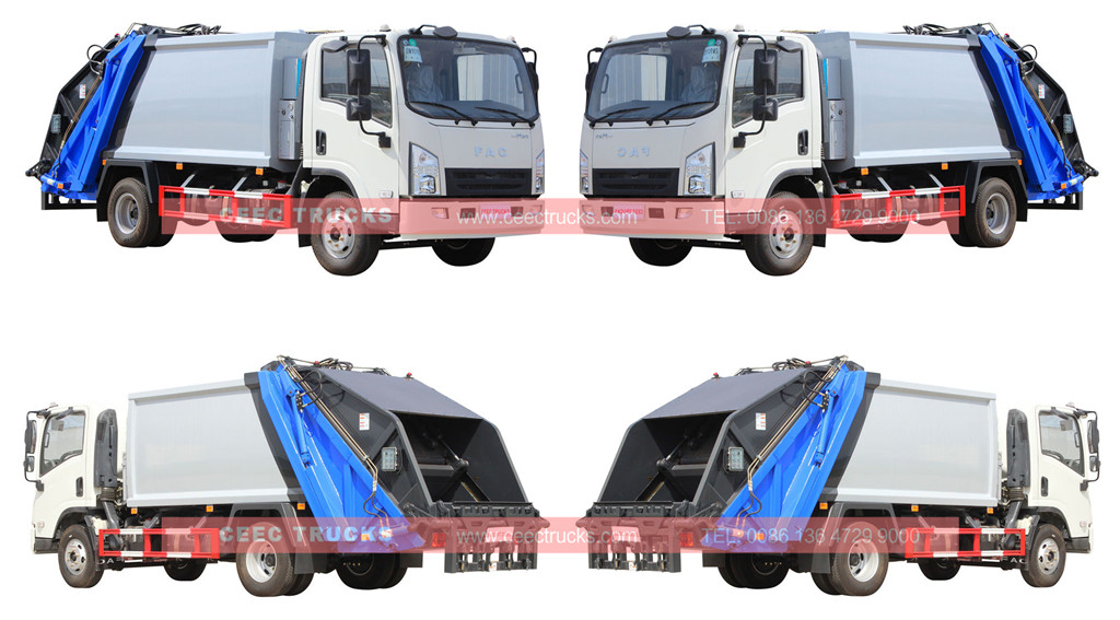 wholeview faw brand 5cbm garbage compactor trucks
