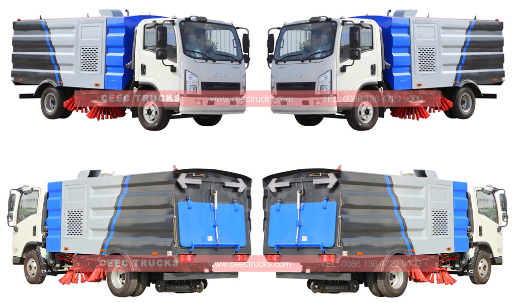 FAW road sweeper truck 5cbm for sale