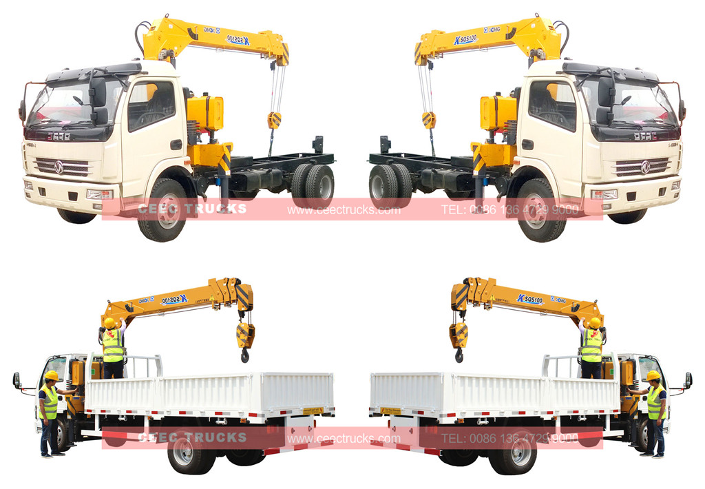 wholesale DONGFENG 4T crane mounted truck