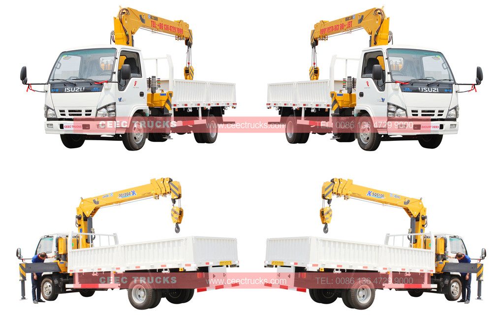 Isuzu 4tons mounted crane truck for sale