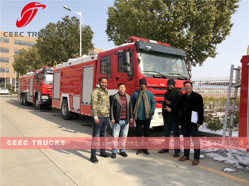 Ethiopia customer purchase HOWO fire trucks from CEEC