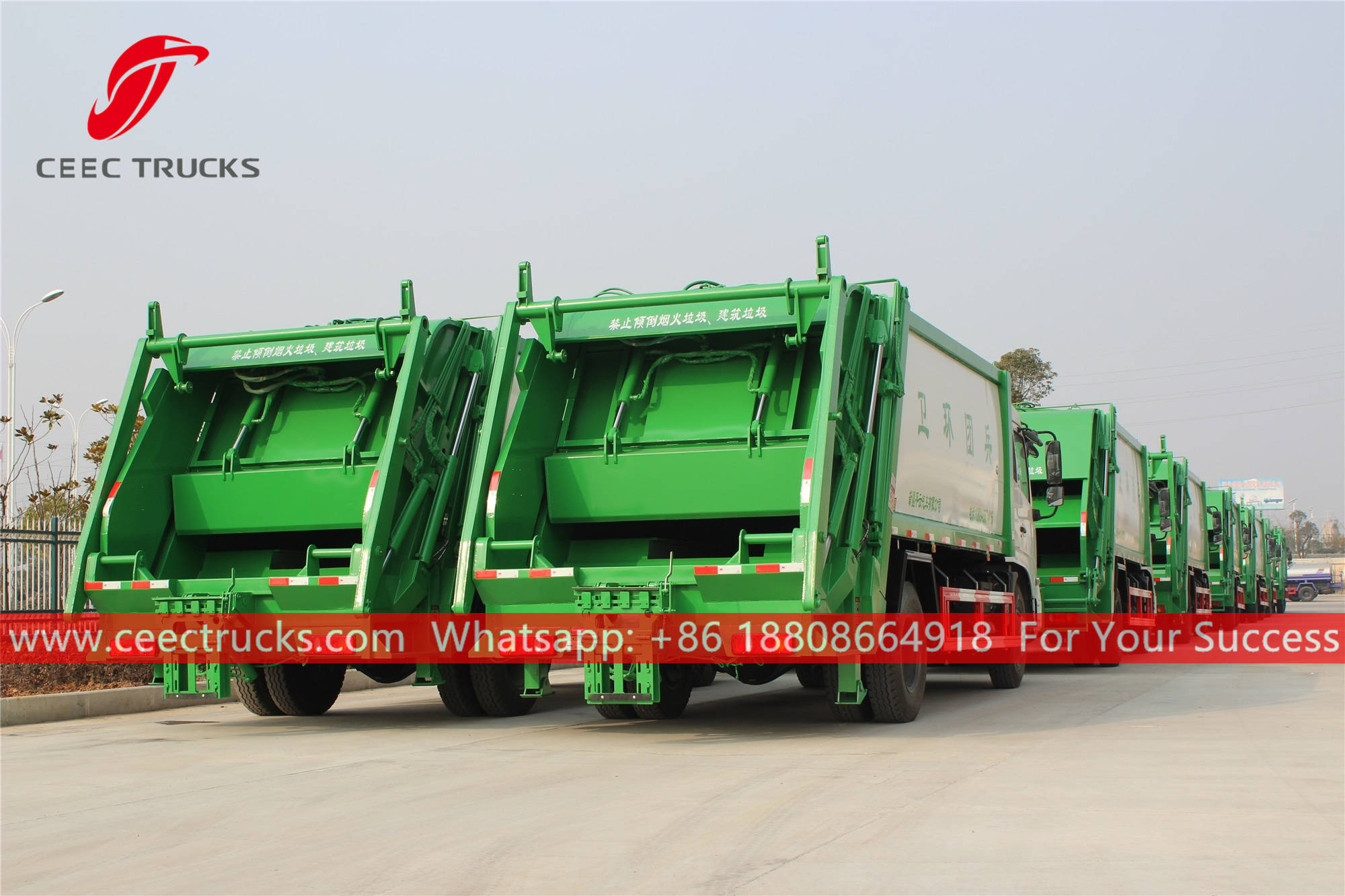 20 units rear loader waste truck are finished production