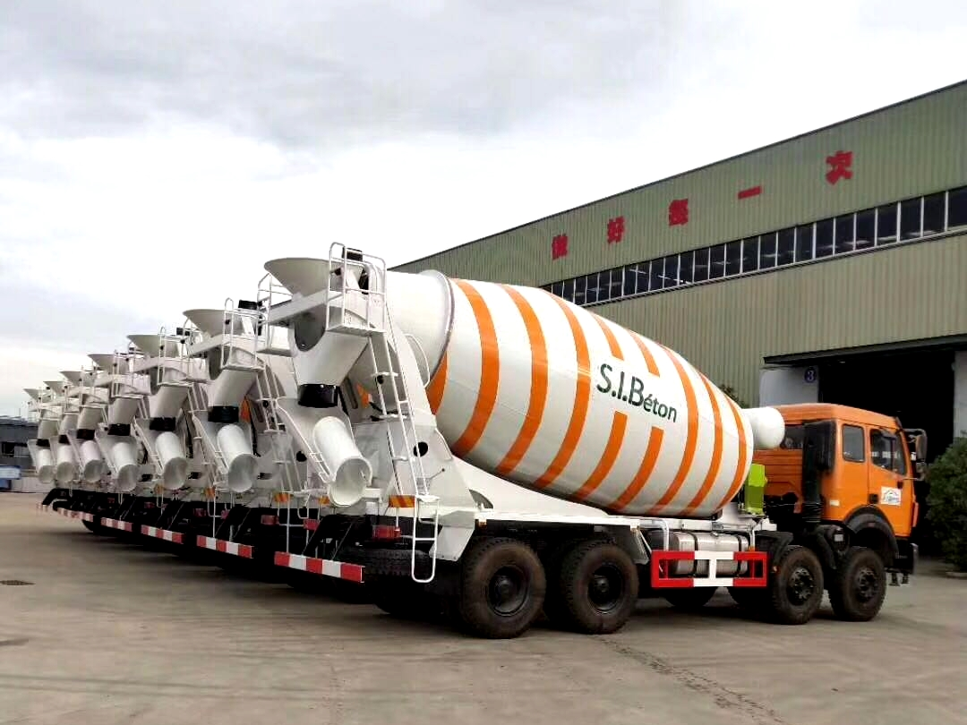 8 units cement mixer trucks for Mongolia