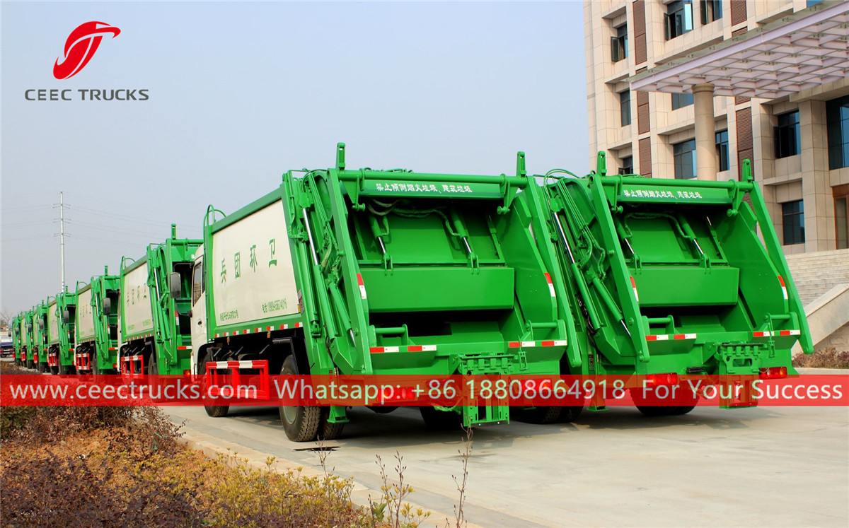 20 units refuse compactor trucks are ready for shipment