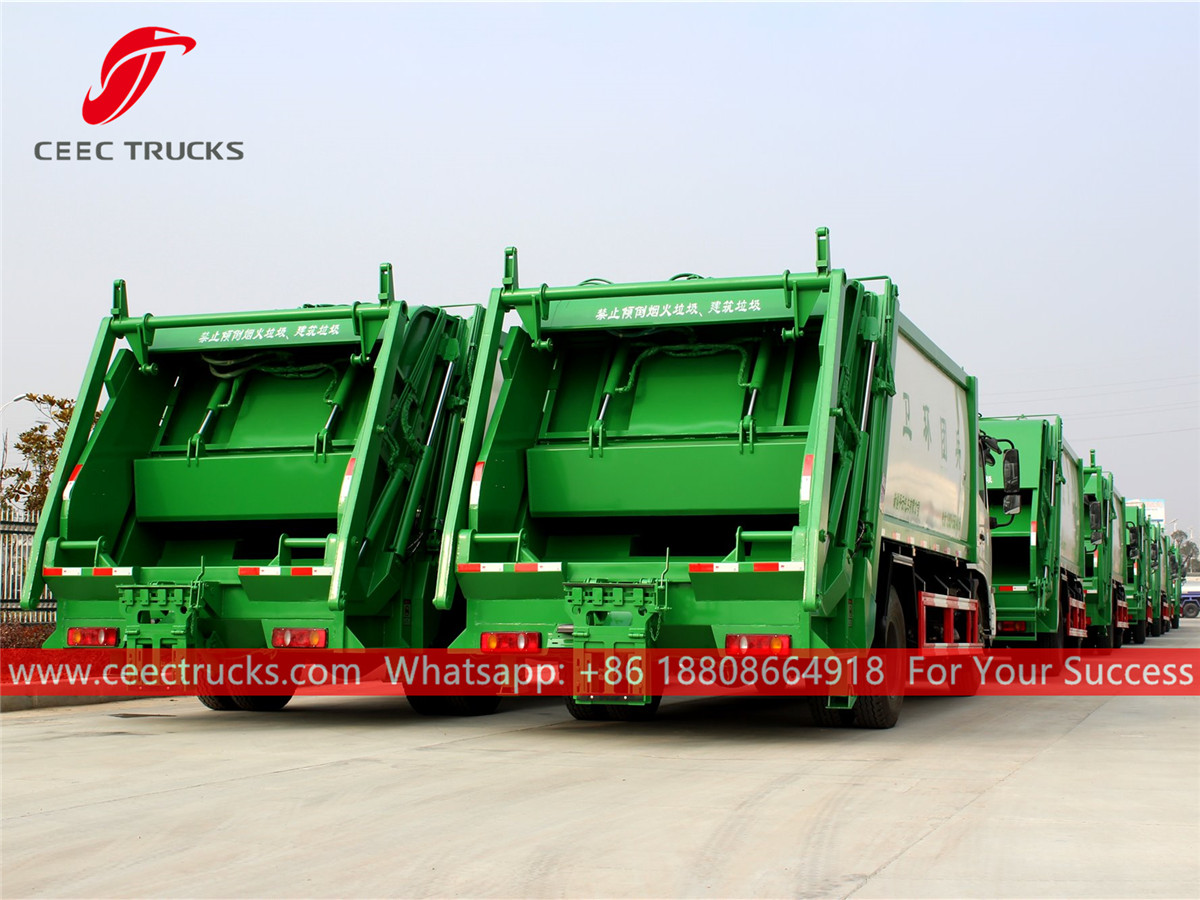 20 units refuse compressing trucks are ready for delivery