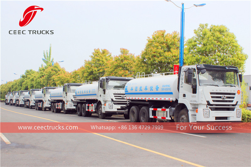 premium water bowser manufacturer, supply iveco water tanker truck, iveco sprinkler truck