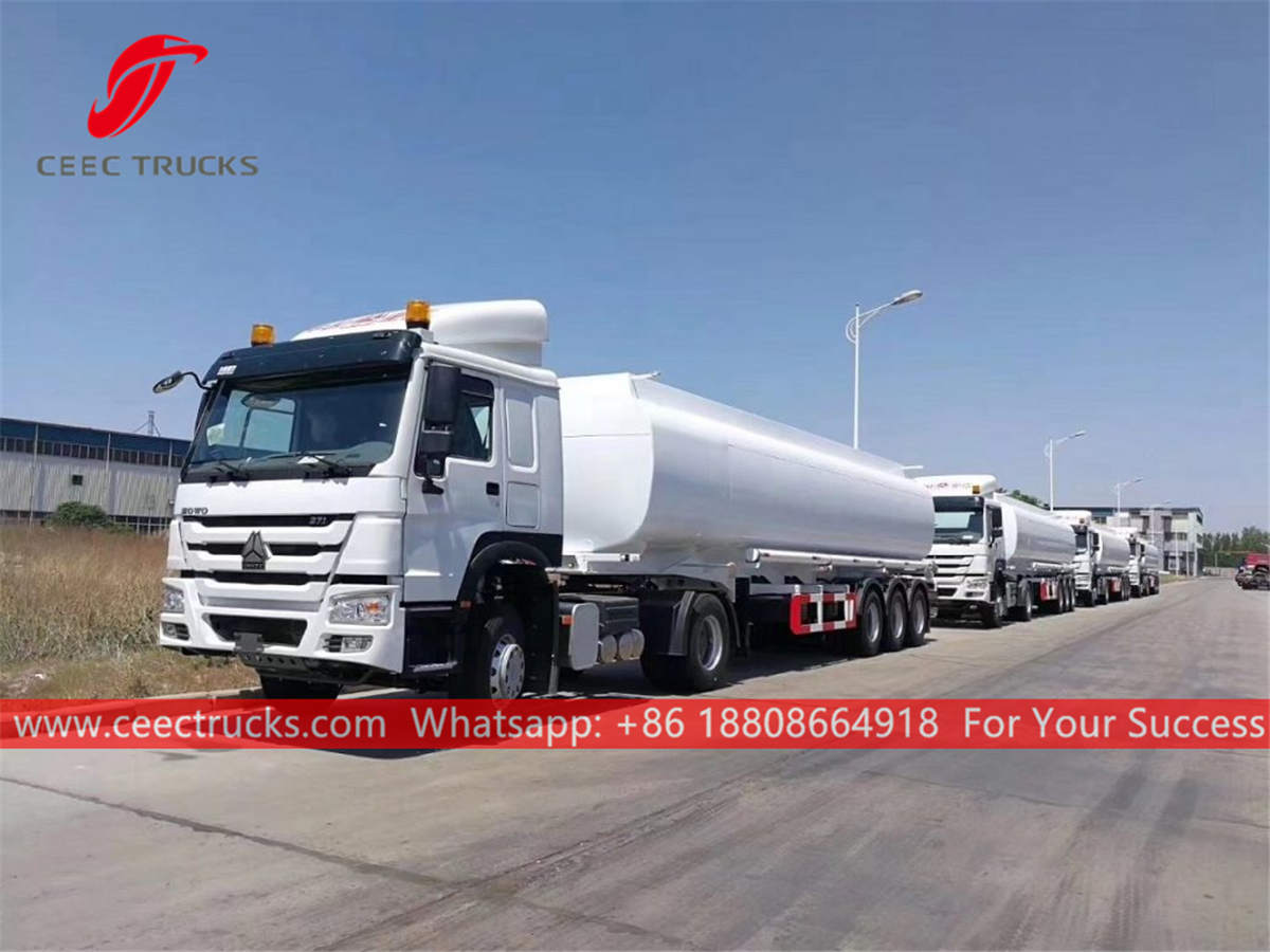 Fuel tanker trailer tractor HOWO
