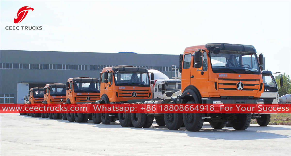 Beiben 8x4 heavy duty trucks for Africa