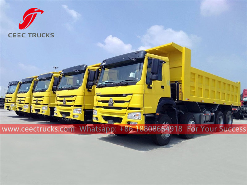 HOWO 12 wheeler tipper lorry