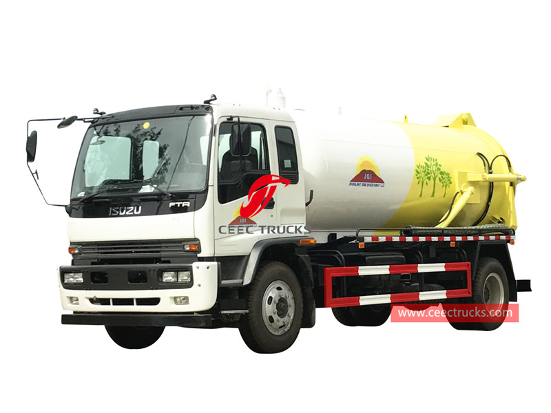 ISUZU FTR sewage suction truck