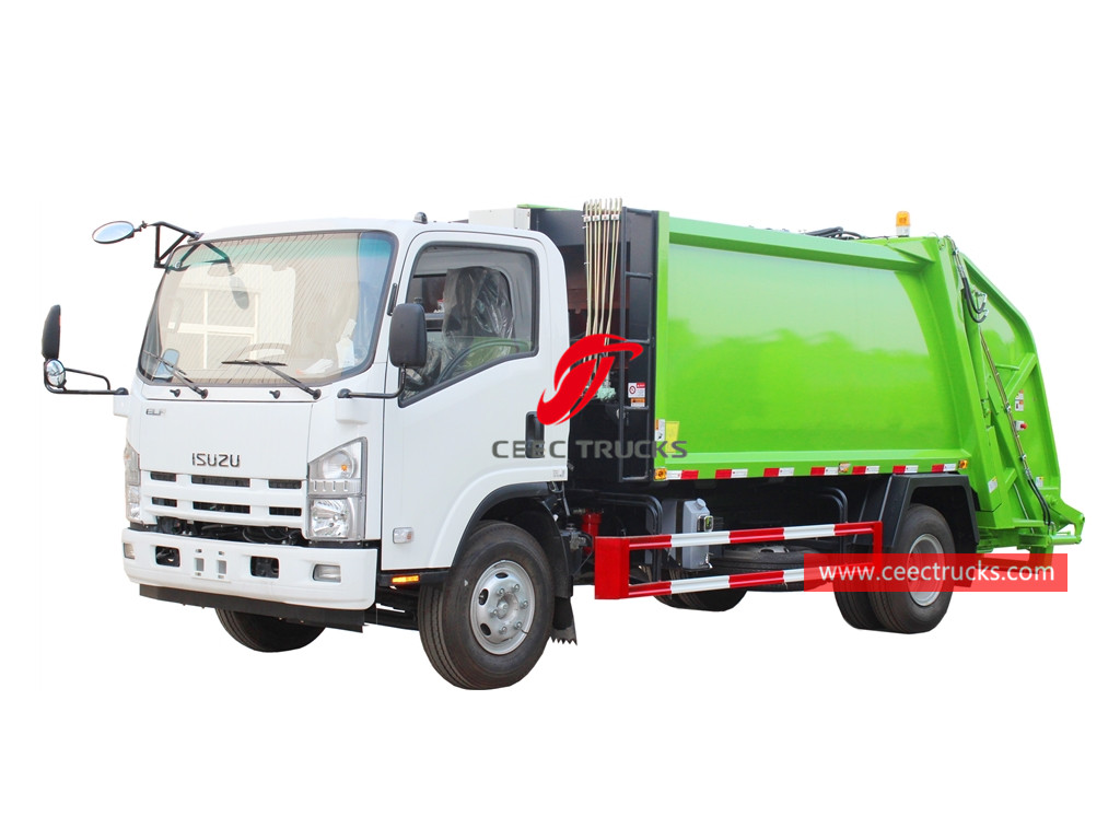 ISUZU 8CBM compressed garbage truck