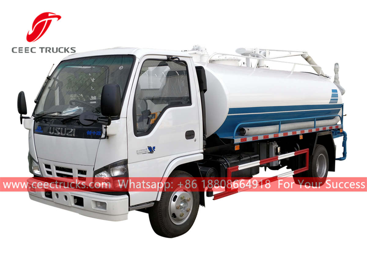 ISUZU 5,000 Liters sewer sucker truck