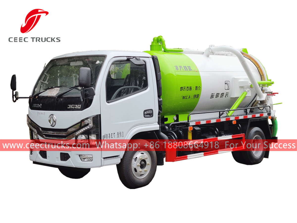 Dongfeng 4,000 liters sewer sucker truck