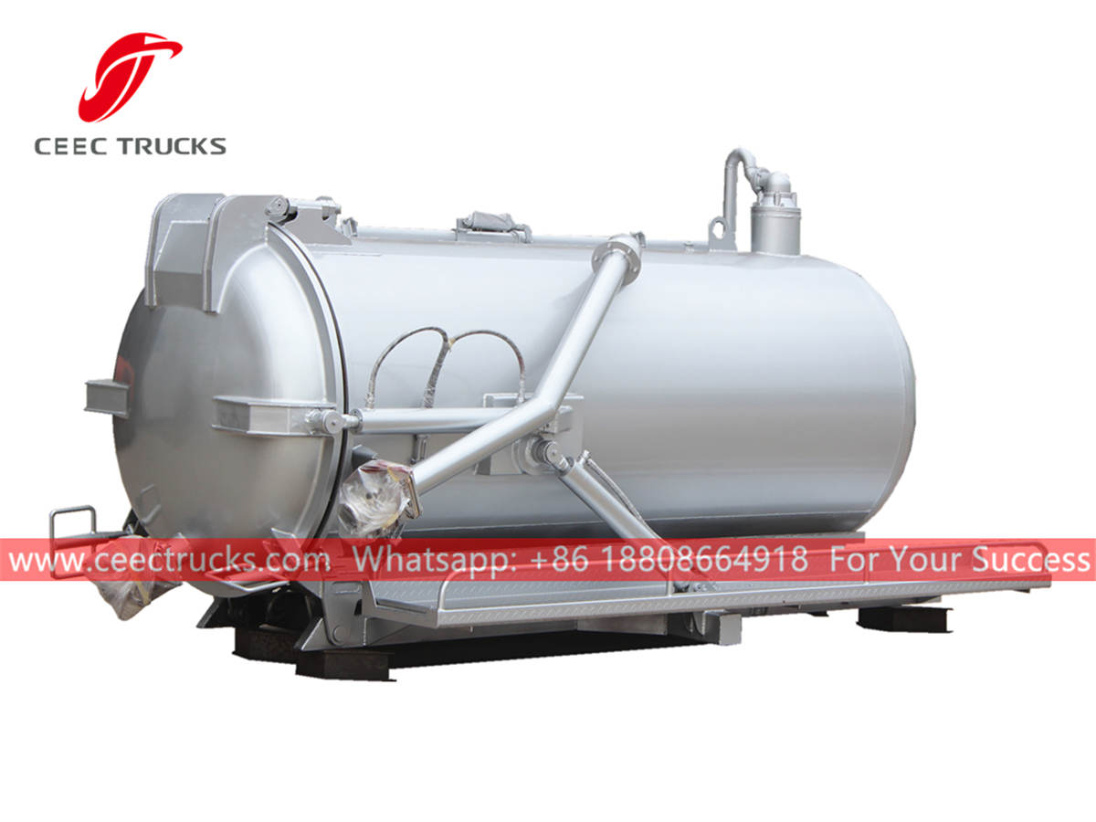 3,000 liters vacuum cleaner tanker body