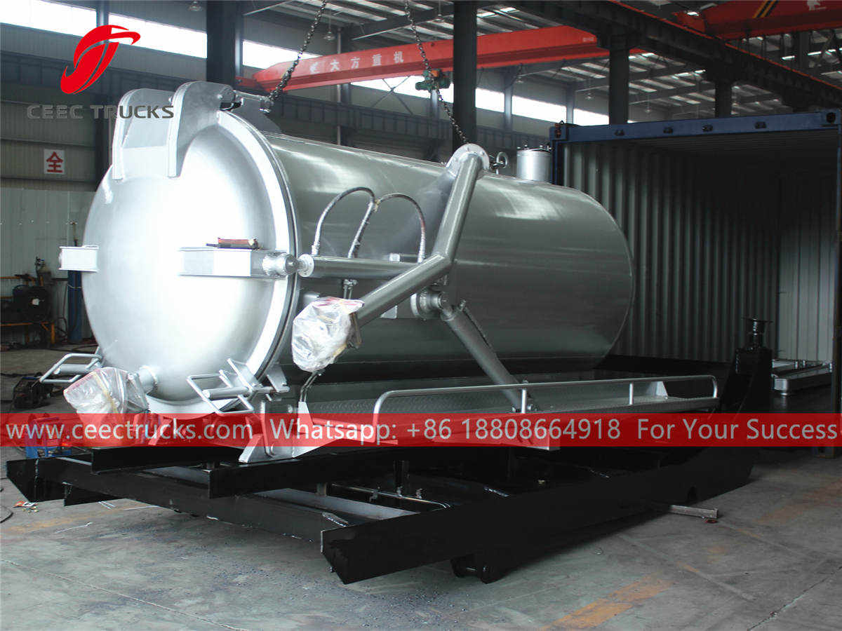 Sewer tanker body for export