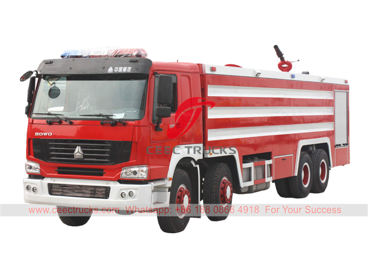 HOWO heavy duty fire truck